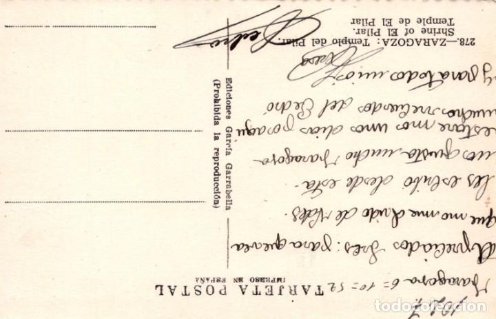 Postales: POSTAL ZARAGOZA - TEMPLO DEL PILAR - 278 GARRABELLA - Foto 2 - 198526762