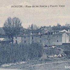 Postales: ARAGON. HUESCA. PLAZA DE LAS MONJAS Y PUENTE VIEJO.PRECIOSA EDICCION.. Lote 198852530