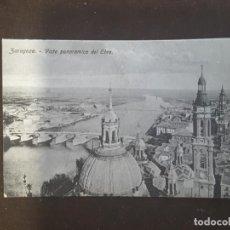 Postales: POSTAL ZARAGOZA BASILICA DE NUESTRA SEÑORA DEL PILAR VISTA PANORAMICA DEL EBRO. Lote 198879765