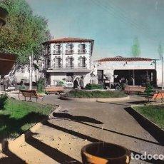 Postais: HUESCA GRAUS VISTA PLAZA DE BARCELONA ED. SICILIA Nº 2 POSTAL EN BYN COLOREADA. ESCRITA. Lote 198937012