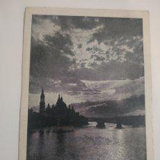 Postales: POSTAL VISTA DEL PILAR CONTRALUZ ZARAGOZA A MANRESA. Lote 199086030