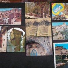 Postales: TERUEL, ALBARRACIN, ALCAÑIZ, LOTE DE 9 POSTALES. Lote 199637463