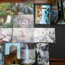 Postales: MONASTERIO DE PIEDRA, LOTE DE 11 POSTALES Y LIBRO CON 10. Lote 199648656