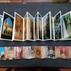 Postales: MONASTERIO DE PIEDRA, CATEDRAL DE SEO. 2 LIBRITOS DE 20 POSTALES Y 12. Lote 199649520