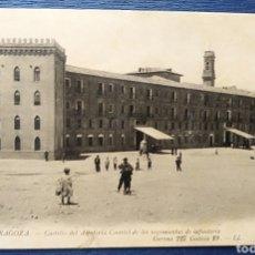 Postales: ZARAGOZA, ARAGON, CASTILLO DE LA ALFAJERIA CUARTEL DE INFANTERÍA, LUCIEN LEVI. Lote 200138481
