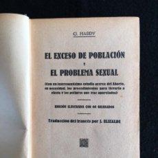 Postales: G. HARDY. EL EXCESO DE POBLACIÓN Y EL PROBLEMA SEXUAL. BIBL. DE ESTUDIOS. VALENCIA, 1933. 1ª ED. ESP. Lote 201126092