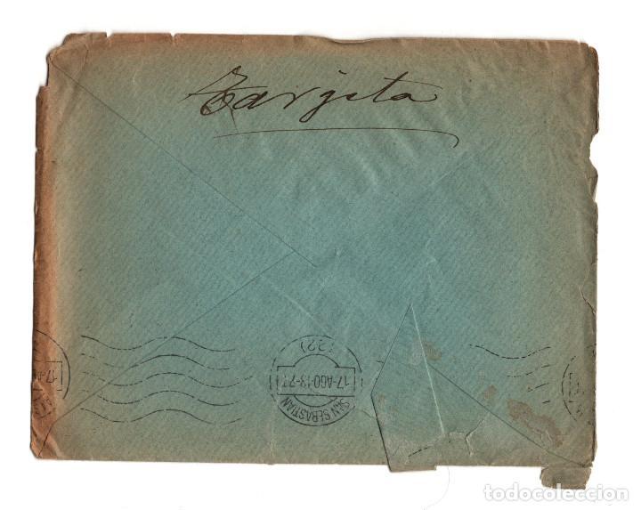 Postales: SAN SEBASTIÁN.(GUIPÚZCOA).- CARTERÍA, MATASELLOS. MORA DE RUBIELOS.(TERUEL).1913. - Foto 2 - 202812443