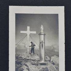 Postales: POSTAL CUMBRE DEL ANETO.PIRINEOS. C.E. CATALUÑA 1951.. Lote 203037995