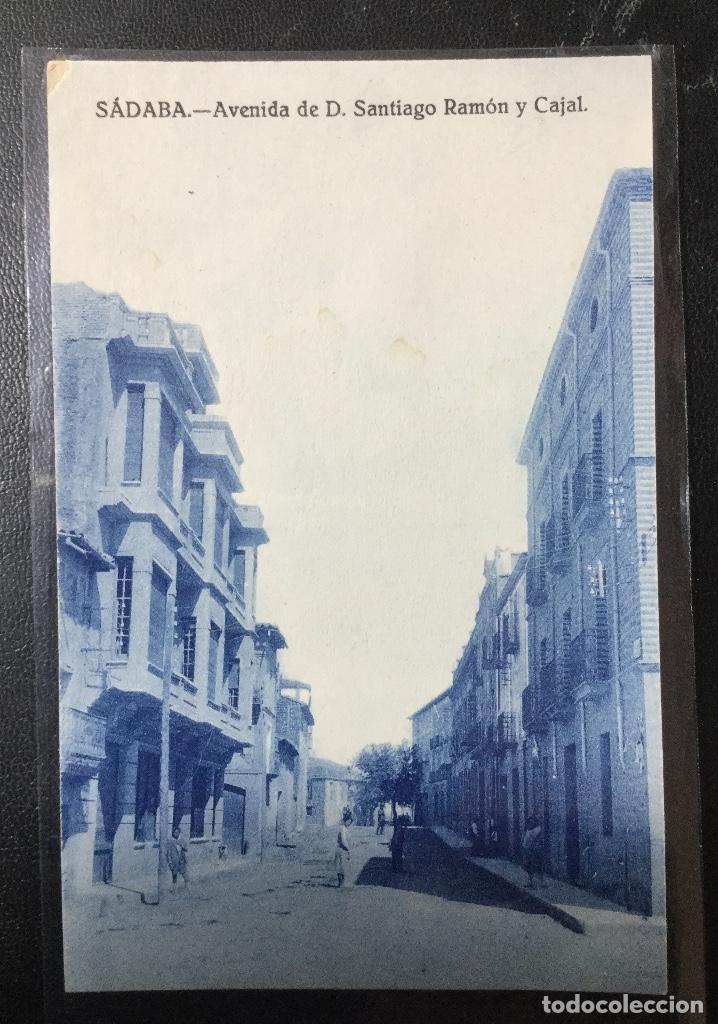 SADABA , ZARAGOZA , ARAGÓN , AVENIDA RAMÓN Y CAJAL (Postales - España - Aragón Antigua (hasta 1939))