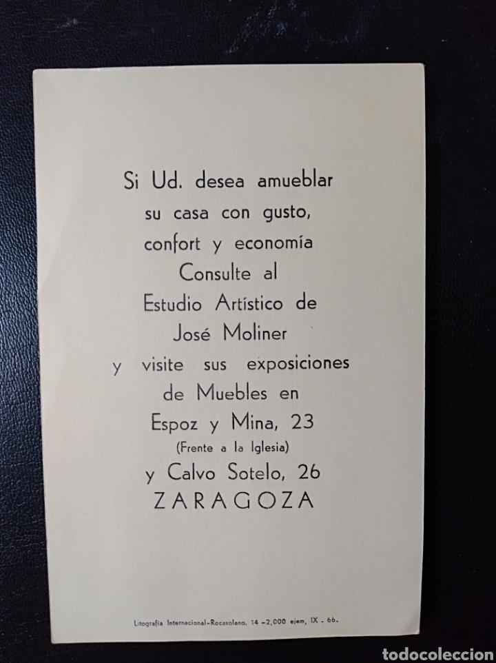 Postales: ZARAGOZA, ARAGON, PUBLICIDAD ALMACENES MOLINER - Foto 2 - 203335916