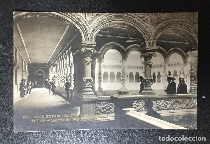 ZARAGOZA , ARAGÓN , EXPOSICIÓN 1908 , PALACIO DE MUSEOS , COYNE (Postales - España - Aragón Antigua (hasta 1939))