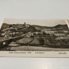 Cartes Postales: AÍNSA VISTA GENERAL POSTAL ANTIGUA. Lote 204132191