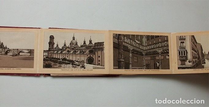 Postales: Vistas de Zaragoza. Álbum de 18 vistas del fotógrafo Coyne. En acordeón (siglo XIX) - Foto 3 - 204221956