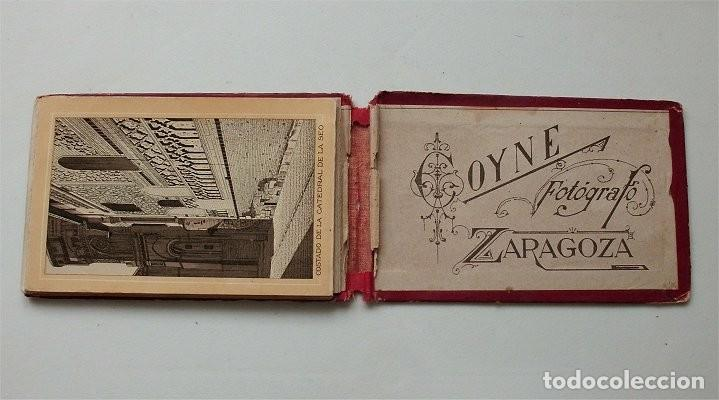 Postales: Vistas de Zaragoza. Álbum de 18 vistas del fotógrafo Coyne. En acordeón (siglo XIX) - Foto 4 - 204221956