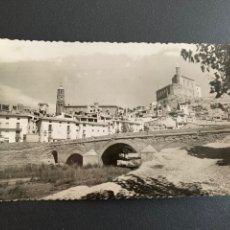 Postales: POSTAL .ALBALATE DEL ARZOBISPO ( TERUEL) PUENTE SOBRE EL RÍO MARTIN ,IGLESIA Y CASTILLO.ED. GARABELL. Lote 204705112