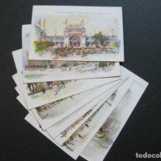 Postales: EXPOSICION DE ZARAGOZA-COLECCION DE 8 POSTALES ANTIGUAS-IMP·ALEMANA-VER FOTOS-(70.409). Lote 205066521