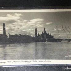 Postales: ZARAGOZA , ARAGÓN , TORRE DE LA SEO Y EL PILAR , COLECCIÓN LOTY N. 46197. Lote 205303692