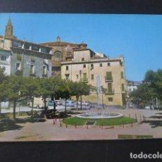Postales: BARBASTRO HUESCA CATEDRAL PASEO DEL GENERALISIMO Y FUENTE LUMINOSA. Lote 205381571