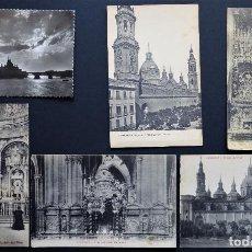 Postales: COLECCION DE 6 ANTIGUAS POSTALES DE ZARAGOZA , VER FOTOS Y COMENTARIOS. Lote 205457443