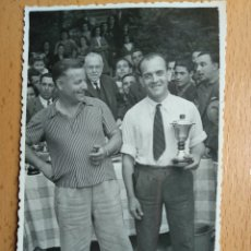 Postales: POSTAL FOTOGRAFICA, ZARAGOZA, 22 ABRIL 1945. CONCURSO DE PESCA, EBRO. FOTOS ARROYO. INFOAL.. Lote 205743103