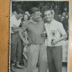Postales: POSTAL FOTOGRAFICA, ZARAGOZA, 22 ABRIL 1945. CONCURSO DE PESCA, EBRO. FOTOS ARROYO. INFOAL.. Lote 205743298