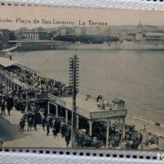 Postales: PLAYA DE SAN LORENZO. Lote 205815743