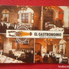 Postales: POST CARD TIPO POSTAL PUBLICIDAD EL GASTRÓNOMO CAFETERÍA RESTAURANTE ZARAGOZA CALLE MÁRTIRES EL TUBO. Lote 205826843