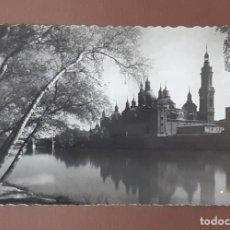 Postales: POSTAL 66 BASÍLICA DEL PILAR. ZARAGOZA. GARCÍA GARRABELLA Y COMPAÑÍA. CIRCULADA EN 1959.. Lote 206157711