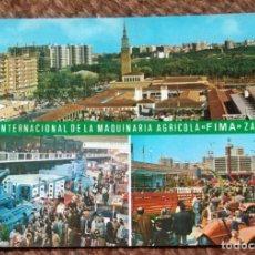Postales: ZARAGOZA - FERIA INTERNACIONAL DE LA MAQUINARIA AGRICOLA FIMA. Lote 206320265