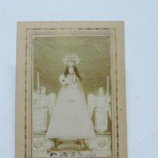 Postales: FOTOGRAFIA ALBUMINA DE NUESTRA SEÑORA DE MONCAYO, ARAGON, FOTO S. PELEGRIN, MIDE 12 X 8 CMS.. Lote 206355842