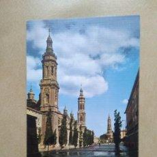 Postales: POSTAL ZARAGOZA,PLAZA DE LAS CATEDRALES. Lote 207073433