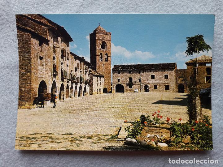 AINSA. PIRINEO ARAGONÉS. PLAZA DE ESPAÑA. (Postales - España - Aragón Moderna (desde 1.940))