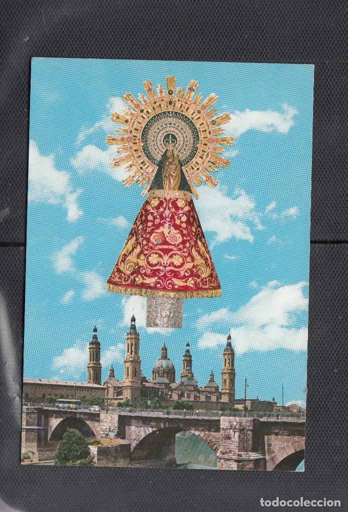 144 ZARAGOZA. IMAGEN Y TEMPLO DEL PILAR (Postales - España - Aragón Moderna (desde 1.940))