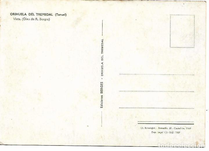 Postales: POSTAL ORIHUELA DEL TREMEDAL - TERUEL - AÑO 1969 - Foto 2 - 207770170