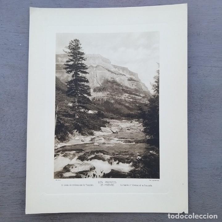 GRAN FOTOGRAFIA/FOTOTIPIA IMPRESA VALLE DE ORDESA LOS PIRINEOS FOTO OTTO WUNDERLICH (Postales - España - Aragón Antigua (hasta 1939))