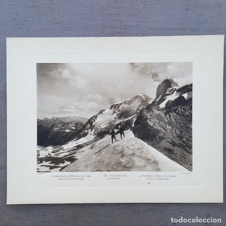 GRAN FOTOGRAFIA/FOTOTIPIA IMPRESA MONTE PERDIDO LOS PIRINEOS FOTO OTTO WUNDERLICH (Postales - España - Aragón Antigua (hasta 1939))