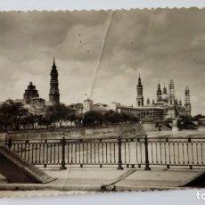 Postales: P-62 POSTAL ZARAGOZA 198 EL TEMPLE DEL PILAR, LA SEO Y EL RIO EBRO. Lote 208283856