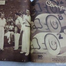 Postales: REVISTA CAMPEON. 2º SEMESTRE 1934 EN UN TOMO. JULIO A DICIEMBRE. FUTBOL-CICLISMO-AUTOMOVILISMO. Lote 209206853