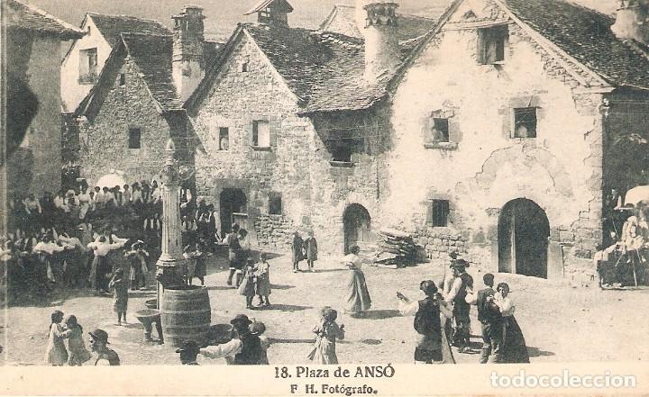 ANSÓ 18 PLAZA DE ANSÓ F. H. FOTÓGRAFO SIN CIRCULAR (Postales - España - Aragón Antigua (hasta 1939))