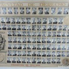 Postales: GRAN ORLA DE LA FACULTAD DE DERECHO DE ZARAGOZA, PROMOCION 1954 / 1959, FOTOS JALON ANGEL, DIBUJO AL. Lote 209900213
