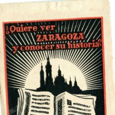 Postales: ZARAGOZA.- ÁLBUM DE 12 POSTALES -EDICIONES CAYÓN.- SERIE 2 .-PARA VER Y CONOCER ZARAGOZA. Lote 210200447