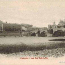 Postales: ZARAGOZA. LAS DOS CATEDRALES. P.Z. 10140. SIN CIRCULAR.. Lote 210527867