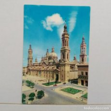 Postales: ZARAGOZA, BASÍLICA DEL PILAR, FACHADA PRINCIPAL Nº 12 COMERCIAL JOSAN, RAKER. Lote 210639571