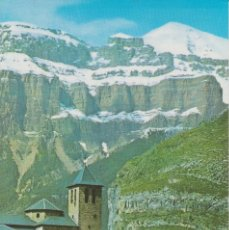 Postales: (70) TORLA. HUESCA. IGLESIA PARROQUIAL Y MONDARRUEGO AL FONDO. Lote 210958145