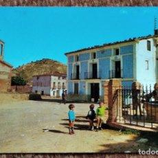 Postales: LOS CEREZOS - TERUEL - PLAZA DE LA FUENTE. Lote 211450587