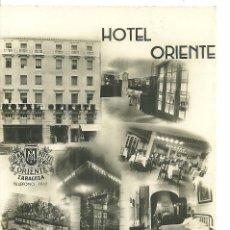 Postales: C3.- HOTEL ORIENTE ZARAGOZA-SITUADO EN EL SITIO MAS CENTRICO DE ZARAGOZA-CIRCULADA AÑO 1960. Lote 211674560
