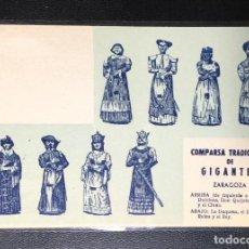 Postales: ZARAGOZA , ARAGÓN , COMPARSA DE GIGANTES , JOSÉ BLASCO IJAZO.. Lote 211900190