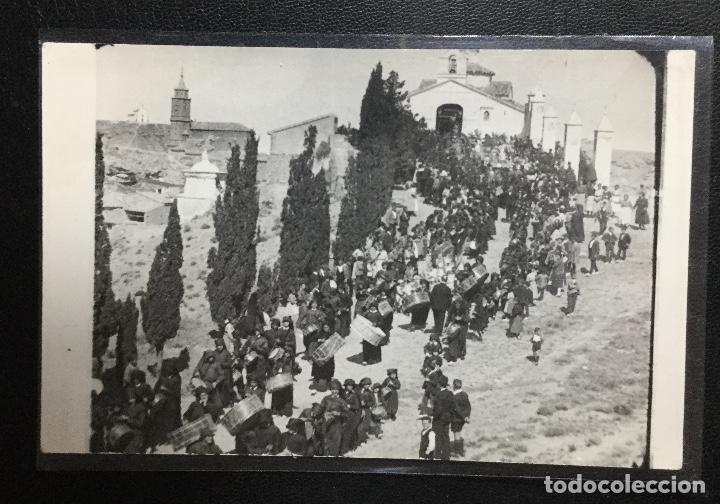 HIJAR , TERUEL , SEMANA SANTA , BOMBOS Y TAMBORES , FOTOGRÁFICA , RARA (Postales - España - Aragón Antigua (hasta 1939))