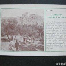 Postales: HIJAR-LA PROCESION LLEGANDO A LA ERMITA-POSTAL ANTIGUA-(73.294). Lote 212719991