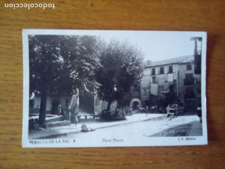PERALTA DE LA SAL-PLAZA MAYOR. (Postales - España - Aragón Antigua (hasta 1939))